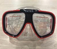 Удобная маска для плавания Intex хорошего качества.
